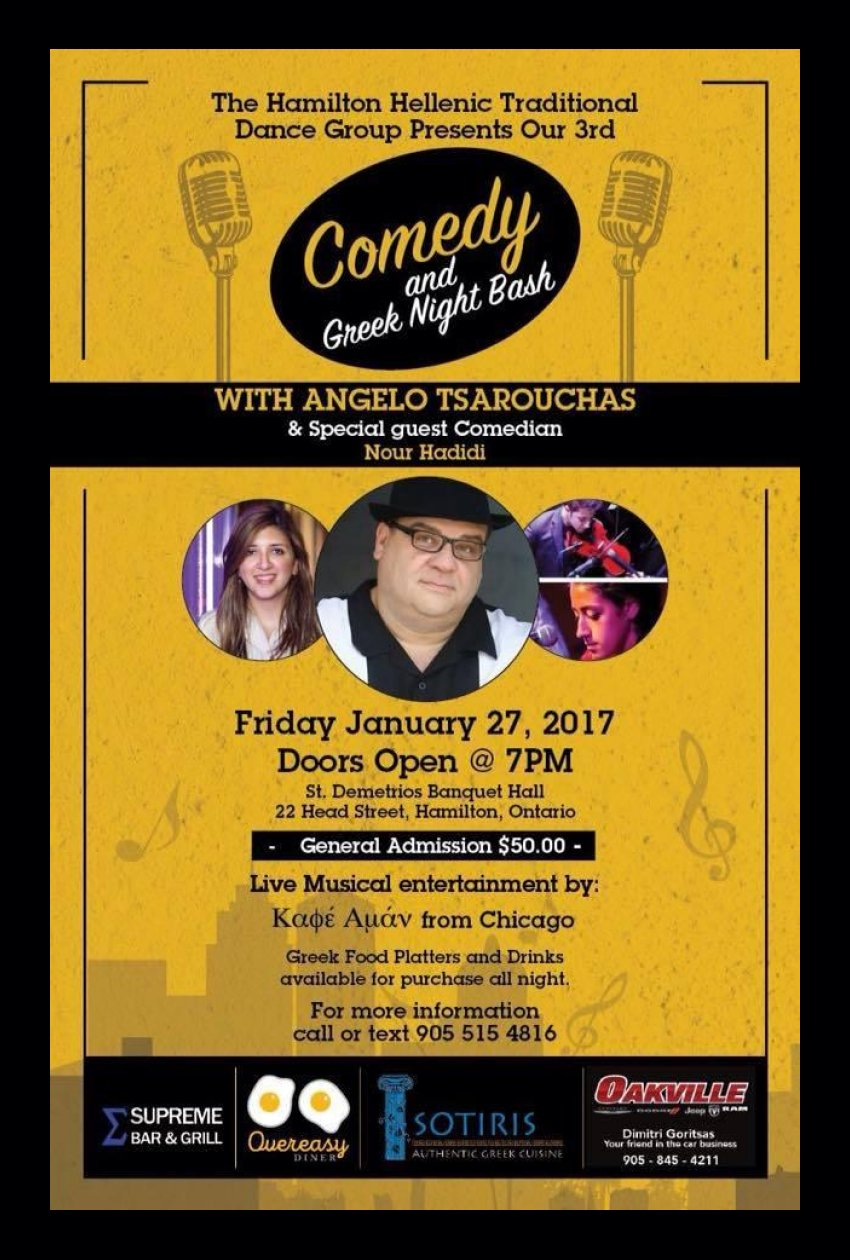 [Angelo Tsarouchas Comedy Night in Hamilton, Ontario, Canada]