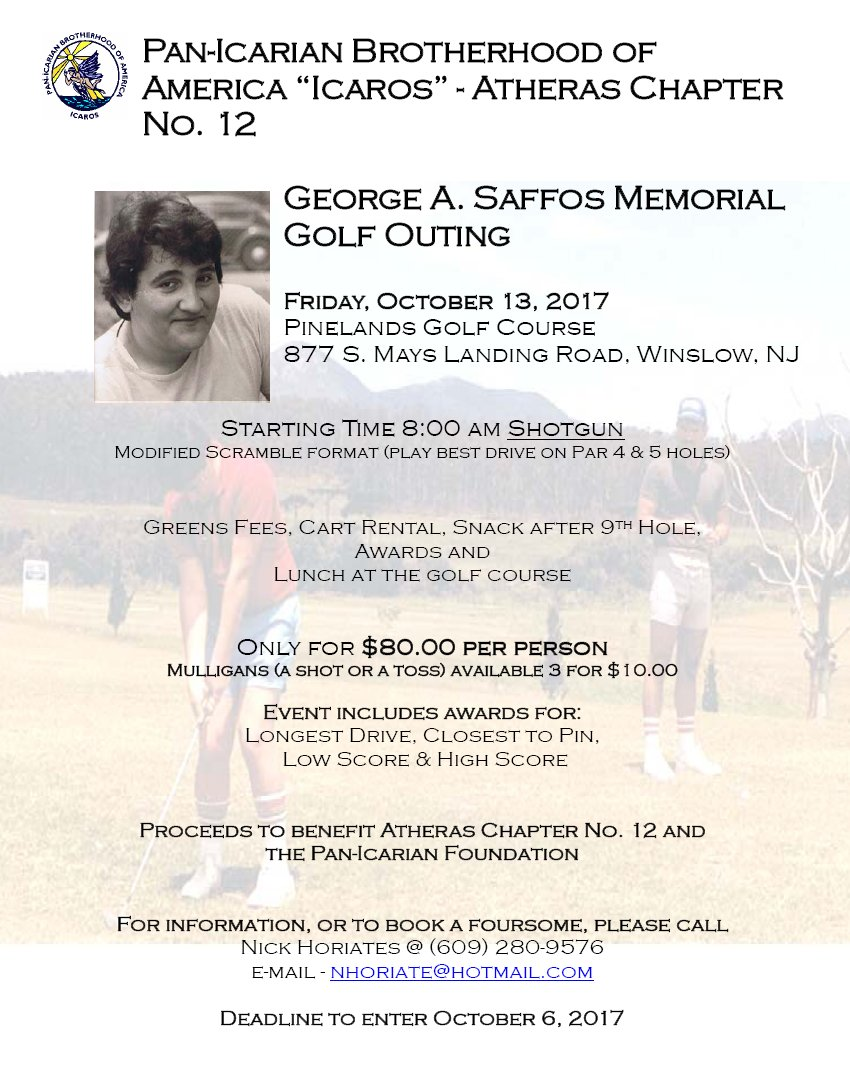 [George Saffos Memorial Golf Outing in Winslow, New Jersey]