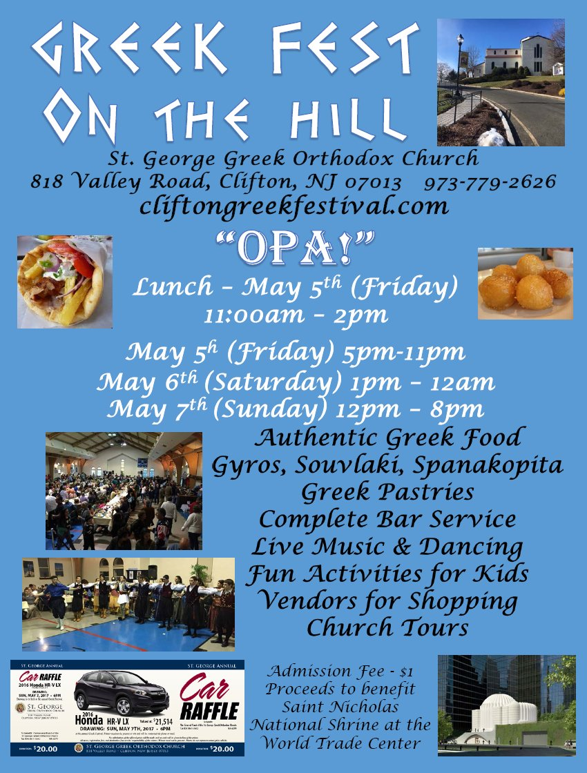 [Greek Fest on the Hill in Clifton, New Jersey]