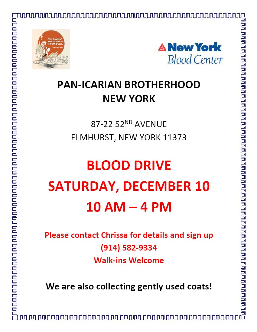 [Icarian Blood Drive in Elmhurst, New York]