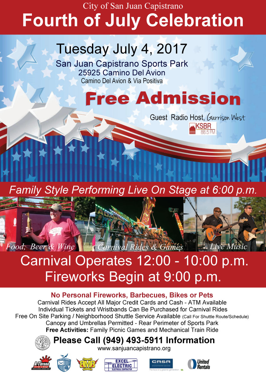 [4th of July in San Juan Capistrano, California]