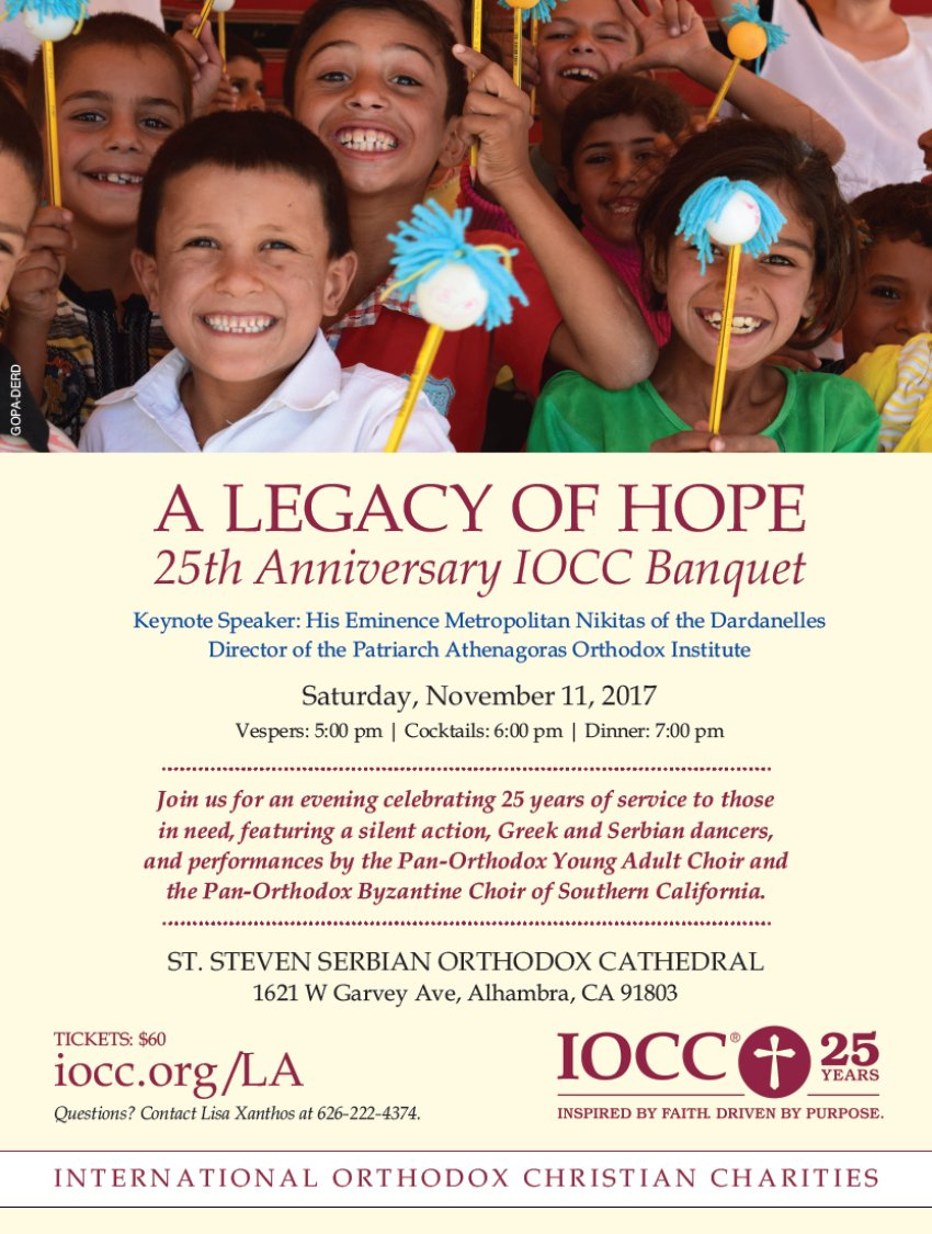 [IOCC 25th Anniversary with Metropolitan Nikitas in Alhambra, California]