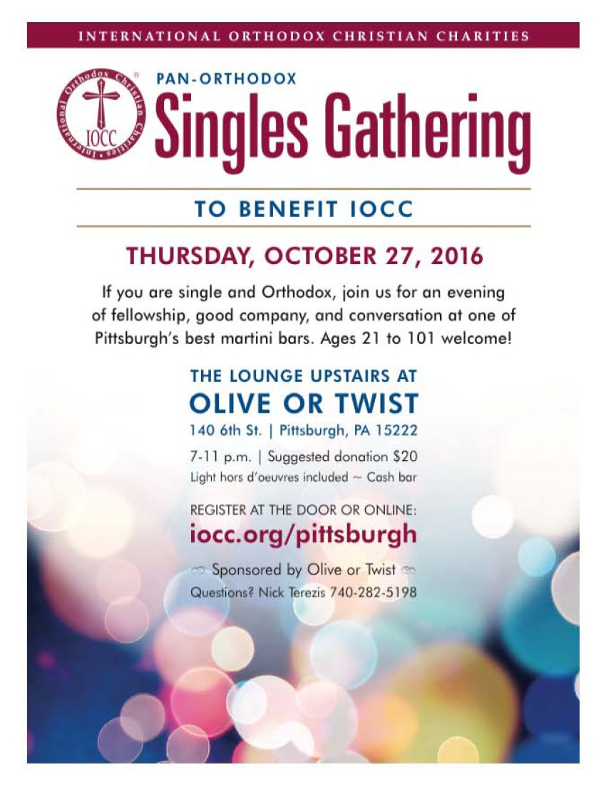 [IOCC Singles Gathering in Pittsburgh, Pennsylvania]