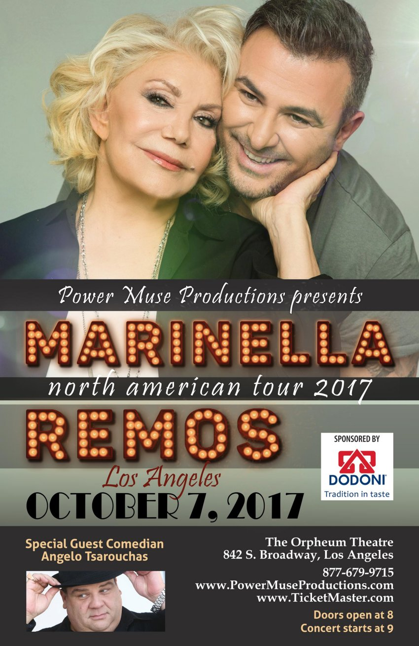 [Marinella and Remos in concert, with Angelo Tsarouchas in Los Angeles, California]
