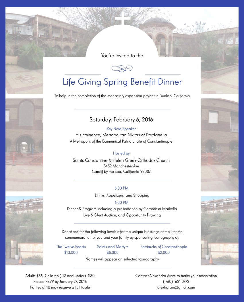 [Monastery Benefit Dinner in Cardiff-by-the-Sea, California]