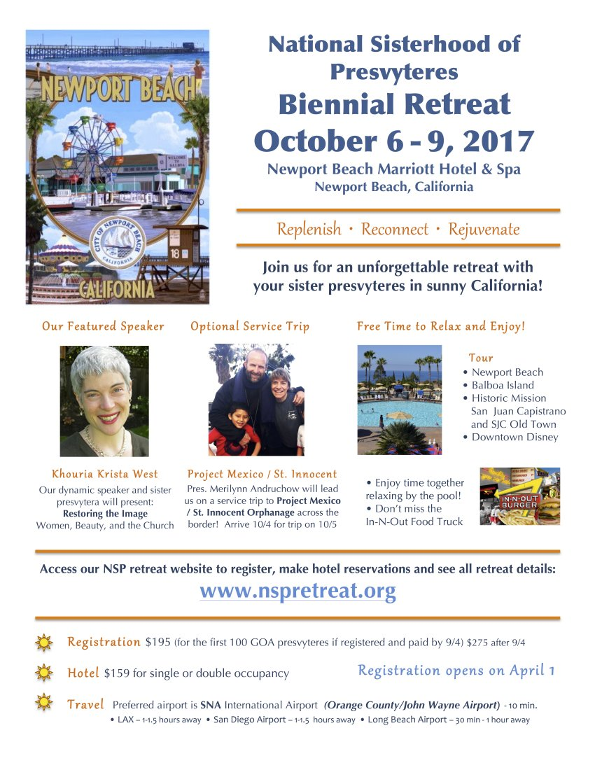 [National Sisterhood of Presvyteres Retreat in Newport Beach, California]