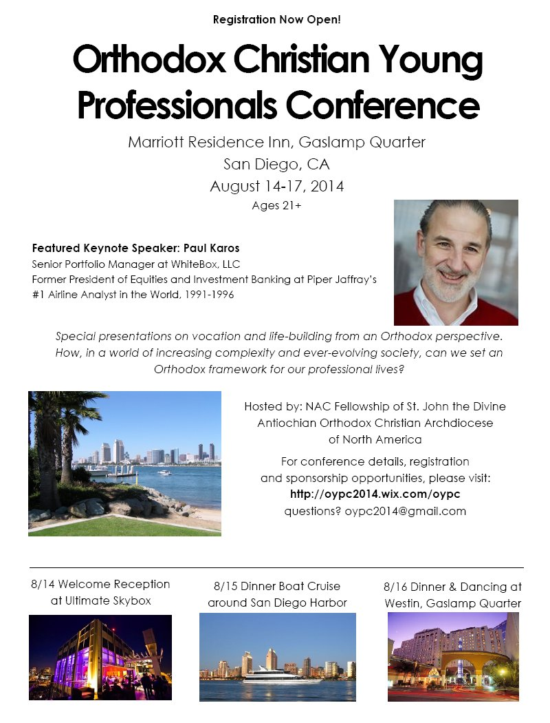 [Orthodox Christian Young Professionals Conference]