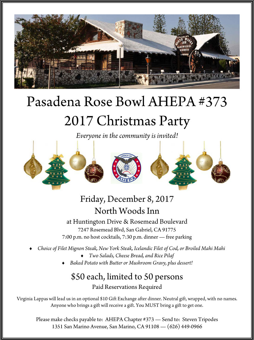 [Pasadena AHEPA Christmas Party]