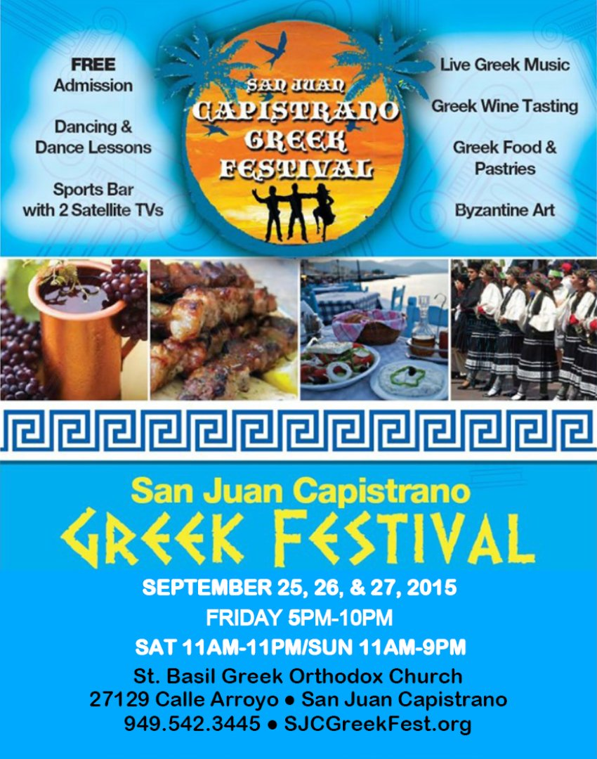 san juan capistrano california greek festival