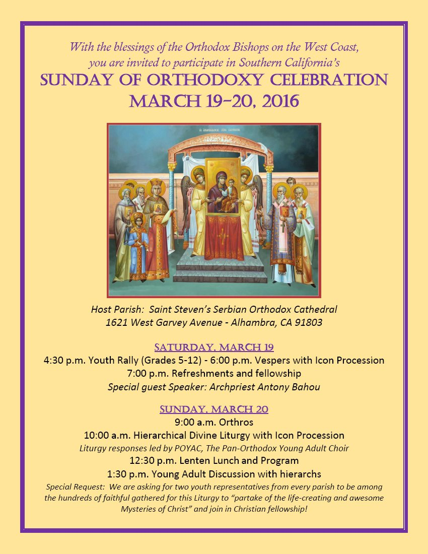 [Sunday of Orthodoxy in Alhambra, California]