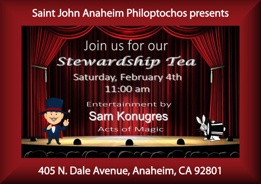 [Philoptochos Tea featuring Sam Konugres Magic in Anaheim, California]